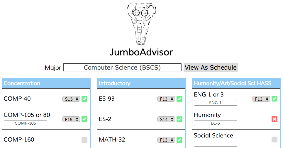 A screenshot of JumboAdvisor